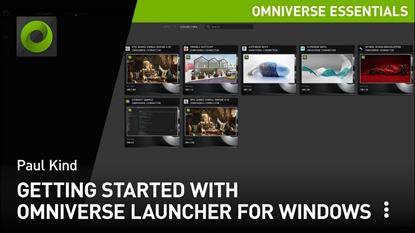 Getting Started on Windows with the NVIDIA Omniverse Launcher